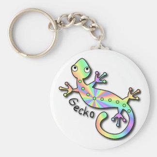 Keychain psychédélique de Gecko Porte-clef