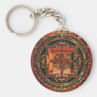 Keychain tibétain de mandala porte-clef