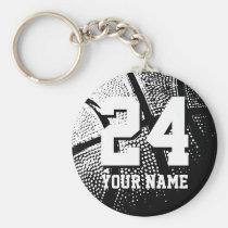 Keychains de basket-ball du numéro 24 | Personaliz Porte-clef