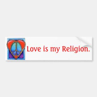 kgb073_450, amour est ma religion autocollant pour voiture