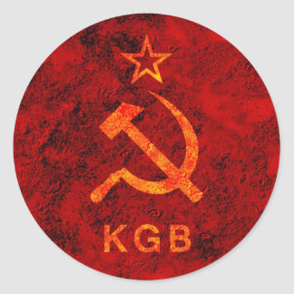 KGB STICKER ROND