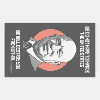Khrushchev de sticker rectangulaire