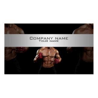 Kick boxing élégant, carte de visite de combat