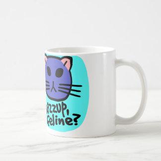 Kiki Kitty font face, Whazzup, félin ? Avec l'arri Mug Blanc