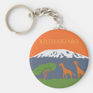 Kilimanjaro Porte-clé Rond