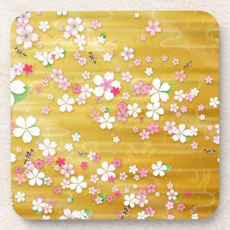 Kimono de Sakura d'or Dessous-de-verre
