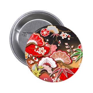 Kimono élégant - conception de Japonais Badges