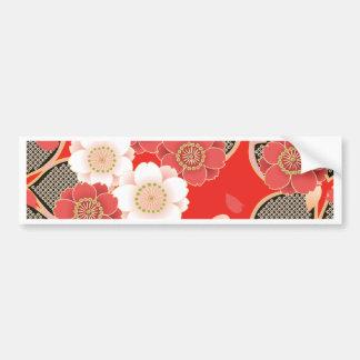 Kimono rouge et blanc de Japonais de Sakura Autocollant Pour Voiture