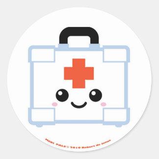 Kit de premiers secours de copains de Medi Sticker Rond