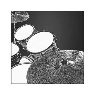 Kit de tambour de toile de batteur avec l'art de