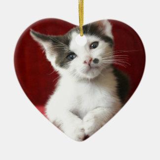 KittenNamed impressionnant Ornement Cœur En Céramique