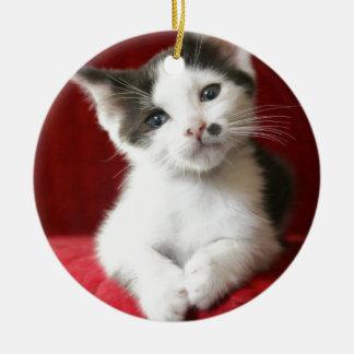 KittenNamed impressionnant Ornement Rond En Céramique