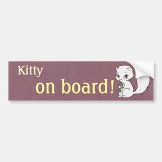 Kitty à bord d'adhésif pour pare-chocs autocollant pour voiture