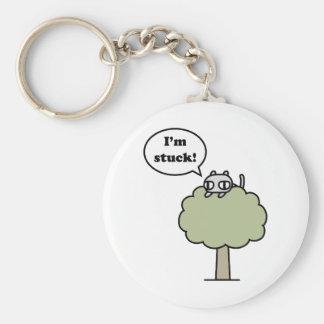 Kitty a collé dans l'arbre porte-clé