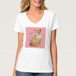 Kitty et papillons t-shirt