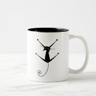 Kitty fantaisie noir 10 mug bicolore