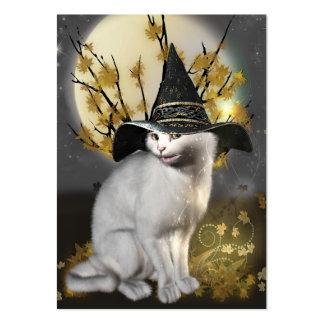 Kitty le chat magique de sorcières carte de visite grand format