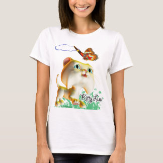 Kitty Luv et papillon - T-shirt