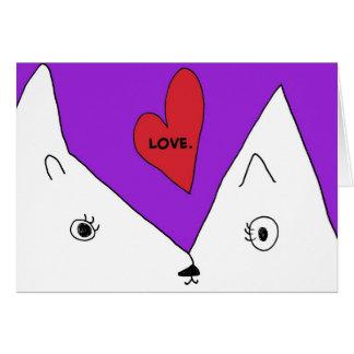 Kitty mignon envoie le carte pour notes d'amour