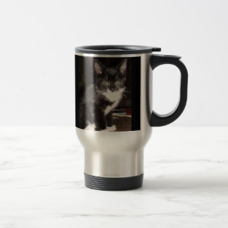 Kitty mignon mug de voyage en acier inoxydable