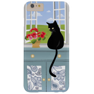Kitty noir par le cas plus de l'iPhone 6 de Coque iPhone 6 Plus Barely There