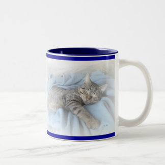 Kitty somnolent mug bicolore
