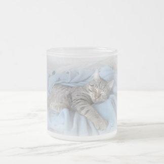 Kitty somnolent mug en verre givré