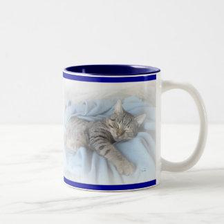 Kitty somnolent tasse 2 couleurs