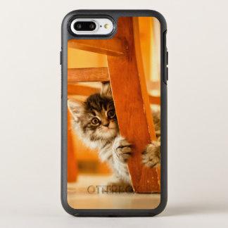Kitty tenant la jambe de chaise coque otterbox symmetry pour iPhone 7 plus