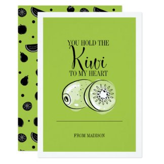 Kiwi drôle de calembour de fruit à la carte de
