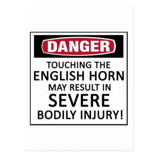 Klaxon anglais de danger carte postale