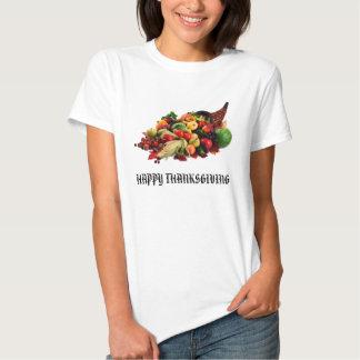 Klaxon de corne d'abondance de récolte d'automne t-shirts