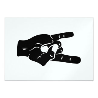 Klaxons de diable de petit pain de la roche n carton d'invitation  12,7 cm x 17,78 cm