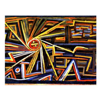 Klee - rayonnement et rotation cartes postales