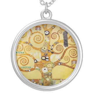 Klimt - arbre de la vie pendentif rond