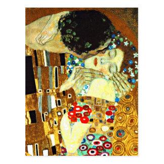 Klimt - le baiser cartes postales