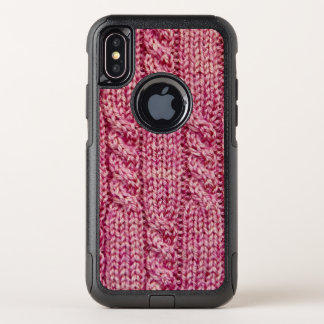 Knit câblé par fil rose