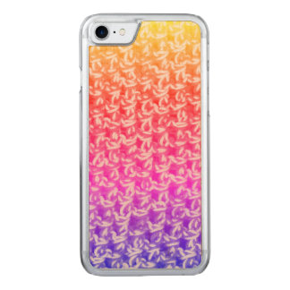 Knit coloré de crochet d'Ombre Coque Iphone 7 En Bois