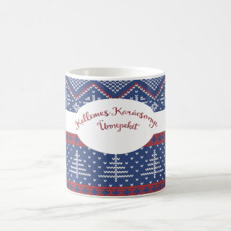 Knit hongrois de chandail de salutation de Noël Mug
