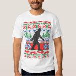 Knit laid allé de fête de chandail de Noël de T-shirts