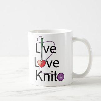 Knit vivant d'amour mug