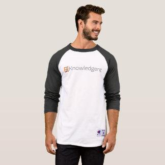 Knowledgent 3/4 chemise de base-ball de douille t-shirt