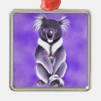 Koala de Bouddha Ornement Carré Argenté