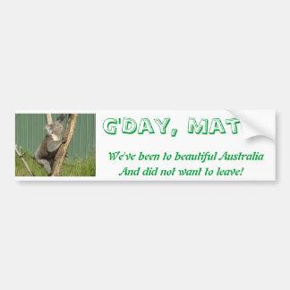 Koala de Kuddly en Australie Autocollant Pour Voiture
