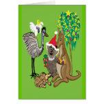 Koala de Père Noël Carte De Vœux