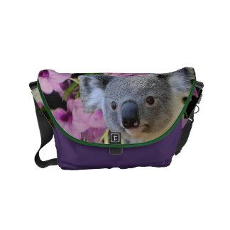 Koala et orchidées sacoche