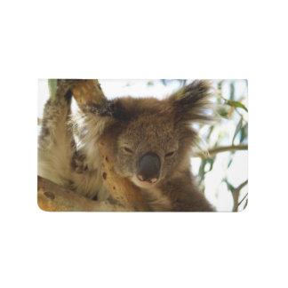 Koala sauvage dormant sur la photo d'arbre carnet de poche