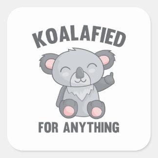 Koalafied pour n'importe quoi sticker carré
