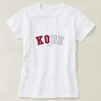 Kobe dans des couleurs de drapeau national du t-shirt