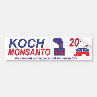 Koch Monsanto pour le président 2016 Autocollant Pour Voiture